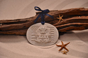 U.S. Navy Sand Ornament