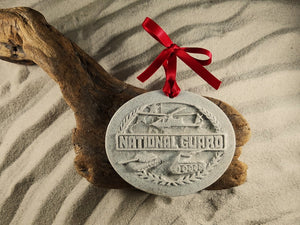 NATIONAL GUARD, MILITARY, AMERICAN PRIDE, SERVICEMEN, VETERANS, SAND ORNAMENT, MADE IN FLORIDA, SAND KEEPSAKES, GIFT SHOP OWNERS, PROMOTIONAL ITEMS, PARTY FAVOR, SPECIAL EVENT, COLLECTIBLES, HAND-CRAFTED