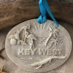 Key West Florida Memories Sand Ornament
