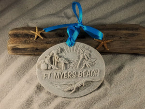 Ft Myers Beach Memories Sand Ornament