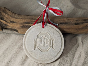 Ohio State University Logo Sand Ornament