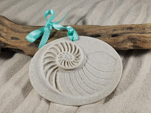NAUTILUS SHELL SAND ORNAMENT
