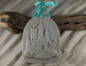 CASTLE IN THE SAND SAND ORNAMENT