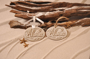 Hawaiian Aloha Sand Ornament/Wedding Favor
