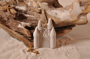 SAND CASTLE ORNAMENT, SAND CASTLE, SAND ORNAMENT, TROPICAL SEASIDE ORNAMENT, COASTAL BEACH GIFT, MADE IN FLORIDA, BEACH LOVER GIFTS, BEACH SAND KEEPSAKES, VACATION SOUVENIR, GIFT SHOP OWNERS, PROMOTIONAL ITEMS, PARTY FAVOR, SPECIAL EVENT, COLLECTIBLES, HAND-CRAFTED, FUNDRAISER, BRIDAL SHOWER FAVORS, DESTINATION WEDDING, BEACH WEDDING FAVORS