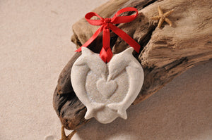 Dolphin Heart Sand Ornament
