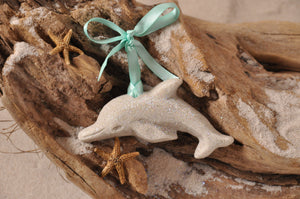 DOLPHIN ORNAMENT, DOLPHINS, SAND ORNAMENT, TROPICAL SEASIDE ORNAMENT, COASTAL BEACH GIFT, MADE IN FLORIDA, BEACH LOVER GIFTS, BEACH SAND KEEPSAKES, VACATION SOUVENIR, GIFT SHOP OWNERS, PROMOTIONAL ITEMS, PARTY FAVOR, SPECIAL EVENT, COLLECTIBLES, HAND-CRAFTED, FUNDRAISER, BRIDAL SHOWER FAVORS, DESTINATION WEDDING, BEACH WEDDING FAVORS