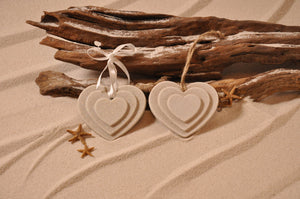 Triple Heart Sand Ornament