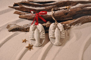 LOBSTER ORNAMENT, SHELLFISH SAND ORNAMENT, TROPICAL SEASIDE ORNAMENT, COASTAL BEACH GIFT, MADE IN FLORIDA, BEACH LOVER GIFTS, BEACH SAND KEEPSAKES, VACATION SOUVENIR, GIFT SHOP OWNERS, PROMOTIONAL ITEMS, PARTY FAVOR, SPECIAL EVENT, COLLECTIBLES, HAND-CRAFTED, FUNDRAISER