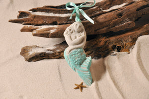 MERMAID ORNAMENT, SAND ORNAMENT, TROPICAL SEASIDE ORNAMENT, COASTAL BEACH GIFT, MADE IN FLORIDA, BEACH LOVER GIFTS, BEACH SAND KEEPSAKES, VACATION SOUVENIR, GIFT SHOP OWNERS, PROMOTIONAL ITEMS, PARTY FAVOR, SPECIAL EVENT, COLLECTIBLES, HAND-CRAFTED, FUNDRAISER, BRIDAL SHOWER FAVORS, DESTINATION WEDDING, BEACH WEDDING FAVORS