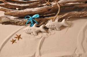 SHARK ORNAMENT, SHARK SAND ORNAMENT, TROPICAL SEASIDE ORNAMENT, COASTAL BEACH GIFT, MADE IN FLORIDA, BEACH LOVER GIFTS, BEACH SAND KEEPSAKES, VACATION SOUVENIR, GIFT SHOP OWNERS, PROMOTIONAL ITEMS, PARTY FAVOR, SPECIAL EVENT, COLLECTIBLES, HAND-CRAFTED