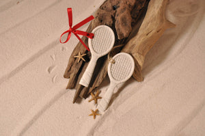 Tennis Racket Sand Ornament