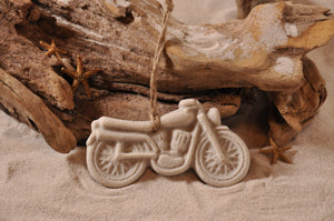 MOTORCYCLE ORNAMENT, BIKE RIDERS, SAND ORNAMENT, TROPICAL SEASIDE ORNAMENT, COASTAL BEACH GIFT, MADE IN FLORIDA, BEACH LOVER GIFTS, BEACH SAND KEEPSAKES, VACATION SOUVENIR, GIFT SHOP OWNERS, PROMOTIONAL ITEMS, PARTY FAVOR, SPECIAL EVENT, COLLECTIBLES, HAND-CRAFTED, FUNDRAISER, BRIDAL SHOWER FAVORS, DESTINATION WEDDING, BEACH WEDDING FAVORS