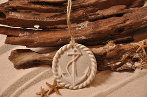 ANCHOR ORNAMENT, SAND ORNAMENT, TROPICAL SEASIDE ORNAMENT, COASTAL BEACH GIFT, MADE IN FLORIDA, BEACH LOVER GIFTS, BEACH SAND KEEPSAKES, VACATION SOUVENIR, GIFT SHOP OWNERS, PROMOTIONAL ITEMS, PARTY FAVOR, SPECIAL EVENT, COLLECTIBLES, HAND-CRAFTED, FUNDRAISER