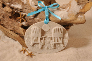 BEACH CHAIRS ORNAMENT, ADIRONDACK CHAIRS, SAND ORNAMENT, SUNSET, TROPICAL SEASIDE ORNAMENT, COASTAL BEACH GIFT, MADE IN FLORIDA, BEACH LOVER GIFTS, BEACH SAND KEEPSAKES, VACATION SOUVENIR, GIFT SHOP OWNERS, PROMOTIONAL ITEMS, PARTY FAVOR, SPECIAL EVENT, COLLECTIBLES, HAND-CRAFTED, FUNDRAISER, BRIDAL SHOWER FAVORS, DESTINATION WEDDING, BEACH WEDDING FAVORS