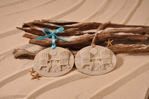 Beach Chairs Adirondack Chairs Sand Ornament