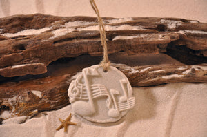 Whimsical Musical Notes Sand Ornament