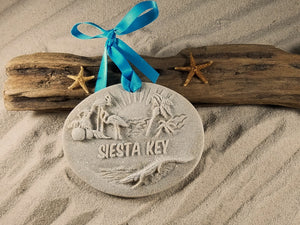 SIESTA KEY MEMORIES SAND ORNAMENT