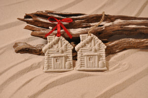 Log Cabin Sand Ornament