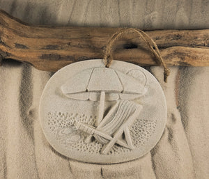 BEACH UMBRELLA CHAIR SAND ORNAMENT