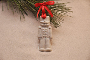 HOLIDAY NUTCRACKER ORNAMENT, HOLIDAY TOY SOLDIER, CHRISTMAS NUTCRACKER, XMAS NUTCRACKER, HOLIDAY GIFT, SEASIDE CHRISTMAS, CHRISTMAS ORNAMENT, SEASONAL DÉCOR, HOLIDAY ORNAMENT, SAND ORNAMENT, TROPICAL SEASIDE ORNAMENT, COASTAL BEACH GIFT, MADE IN FLORIDA, BEACH LOVER GIFTS, BEACH SAND KEEPSAKES, VACATION SOUVENIR, GIFT SHOP OWNERS, PROMOTIONAL ITEMS, PARTY FAVOR, SPECIAL EVENT, COLLECTIBLES, HAND-CRAFTED, FUNDRAISER