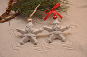 SANTA STAR ORNAMENT, STAR SANTA, CHRISTMAS, XMAS, HOLIDAY GIFT, SEASIDE CHRISTMAS, CHRISTMAS ORNAMENT, SEASONAL DÉCOR, HOLIDAY ORNAMENT, SAND ORNAMENT, TROPICAL SEASIDE ORNAMENT, COASTAL BEACH GIFT, MADE IN FLORIDA, BEACH LOVER GIFTS, BEACH SAND KEEPSAKES, VACATION SOUVENIR, GIFT SHOP OWNERS, PROMOTIONAL ITEMS, PARTY FAVOR, SPECIAL EVENT, COLLECTIBLES, HAND-CRAFTED, FUNDRAISER