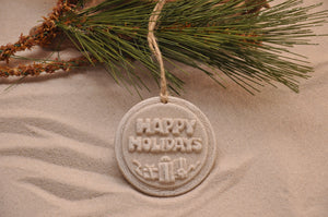 Happy Holiday Sand Ornament