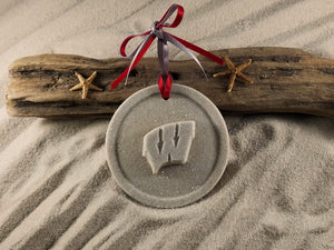 Badgers, Wisconsin Badgers, University of Wisconsin Ornament, Sand Ornament