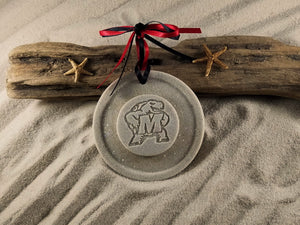 Testudo, Maryland, University of Maryland, College Ornament, Maryland Testudo, Sand ornament