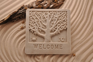 TREE BRANCHES PLAQUE, WELCOME PLAQUE, COASTAL WALL DÉCOR, SAND ART, COTTAGE CHIC, WELCOME SIGN, BEACH HOUSE DÉCOR, THREE-DIMENSIONAL, COASTAL BEACH GIFT, MADE IN FLORIDA, BEACH LOVER GIFTS, BEACH SAND KEEPSAKES, VACATION SOUVENIR, GIFT SHOP OWNERS, PROMOTIONAL ITEMS, PARTY FAVOR, SPECIAL EVENT, COLLECTIBLES, HAND-CRAFTED, FUNDRAISER