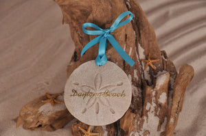 DAYTONA BEACH SAND DOLLAR, DAYTONA BEACH SAND ORNAMENT, TROPICAL SEASIDE ORNAMENT, COASTAL BEACH GIFT, MADE IN FLORIDA, BEACH LOVER GIFTS, BEACH SAND KEEPSAKES, VACATION SOUVENIR, GIFT SHOP OWNERS, PROMOTIONAL ITEMS, PARTY FAVOR, SPECIAL EVENT, COLLECTIBLES, HAND-CRAFTED, FUNDRAISER, DESTINATION WEDDING, BEACH WEDDING FAVORS