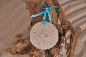 NAPLES SAND DOLLAR, NAPLES SAND ORNAMENT, TROPICAL SEASIDE ORNAMENT, COASTAL BEACH GIFT, MADE IN FLORIDA, BEACH LOVER GIFTS, BEACH SAND KEEPSAKES, VACATION SOUVENIR, GIFT SHOP OWNERS, PROMOTIONAL ITEMS, PARTY FAVOR, SPECIAL EVENT, COLLECTIBLES, HAND-CRAFTED, FUNDRAISER, DESTINATION WEDDING, BEACH WEDDING FAVORS