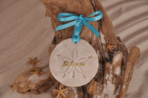 ST LUCIA SAND DOLLAR, ST LUCIA SAND ORNAMENT, TROPICAL SEASIDE ORNAMENT, COASTAL BEACH GIFT, MADE IN FLORIDA, BEACH LOVER GIFTS, BEACH SAND KEEPSAKES, VACATION SOUVENIR, GIFT SHOP OWNERS, PROMOTIONAL ITEMS, PARTY FAVOR, SPECIAL EVENT, COLLECTIBLES, HAND-CRAFTED, FUNDRAISER, DESTINATION WEDDING, BEACH WEDDING FAVORS