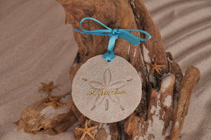 St Maarten Sand Dollar Ornament