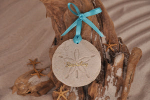 SIESTA KEY SAND DOLLAR ORNAMENT, SIESTA KEY SAND ORNAMENT, TROPICAL SEASIDE ORNAMENT, COASTAL BEACH GIFT, MADE IN FLORIDA, BEACH LOVER GIFTS, BEACH SAND KEEPSAKES, VACATION SOUVENIR, GIFT SHOP OWNERS, PROMOTIONAL ITEMS, PARTY FAVOR, SPECIAL EVENT, COLLECTIBLES, HAND-CRAFTED, FUNDRAISER, BRIDAL SHOWER FAVORS, DESTINATION WEDDING, BEACH WEDDING FAVORS