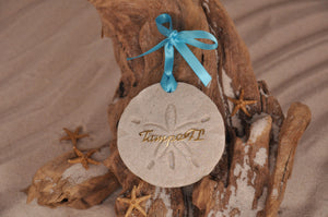 TAMPA SAND DOLLAR, TAMPA SAND ORNAMENT, TROPICAL SEASIDE ORNAMENT, COASTAL BEACH GIFT, MADE IN FLORIDA, BEACH LOVER GIFTS, BEACH SAND KEEPSAKES, VACATION SOUVENIR, GIFT SHOP OWNERS, PROMOTIONAL ITEMS, PARTY FAVOR, SPECIAL EVENT, COLLECTIBLES, HAND-CRAFTED, FUNDRAISER, DESTINATION WEDDING, BEACH WEDDING FAVORS