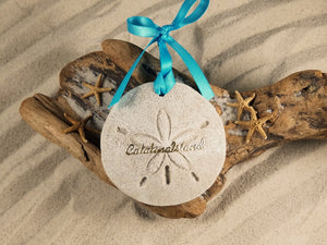 CATALINA ISLAND SAND DOLLAR, CATALINA ISLAND SAND ORNAMENT, TROPICAL SEASIDE ORNAMENT, COASTAL BEACH GIFT, MADE IN FLORIDA, BEACH LOVER GIFTS, BEACH SAND KEEPSAKES, VACATION SOUVENIR, GIFT SHOP OWNERS, PROMOTIONAL ITEMS, PARTY FAVOR, SPECIAL EVENT, COLLECTIBLES, HAND-CRAFTED, FUNDRAISER, DESTINATION WEDDING, BEACH WEDDING FAVORS