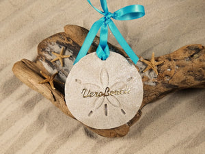 Vero Beach Sand Dollar Sand Ornament
