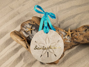 Santa Monica Sand Dollar Sand Ornament