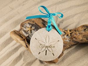 Galveston Sand Dollar Sand Ornament