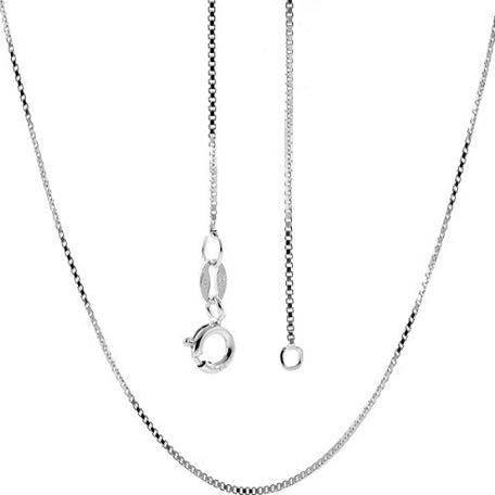 "18"" Sterlng Silver Box Chain - Many Hearts One Beat"