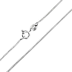 "18"" Sterling Silver Box Chain - Many Hearts One Beat"