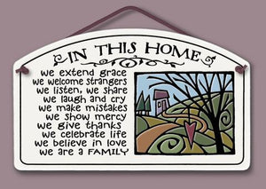 In This Home Plaque - Many Hearts One Beat