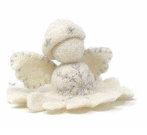BRAND NEW! White Angel Felt Ornament - Many Hearts One Beat