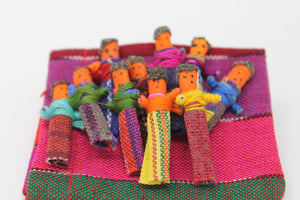 Tiny Guatemalan Worry Dolls - Set of 10 Dolls - Many Hearts One Beat