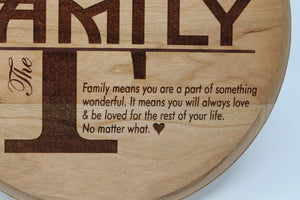 The Love of Family Plaque - Many Hearts One Beat