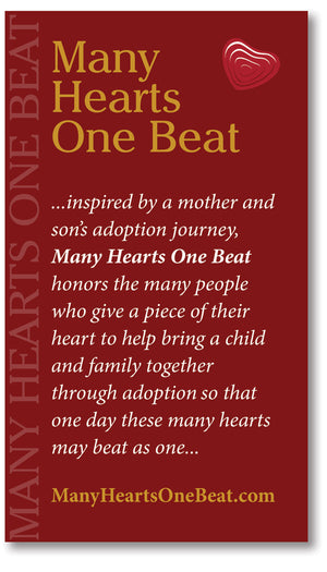 NEW...Adoptee Journey of Heart Necklace - Many Hearts One Beat