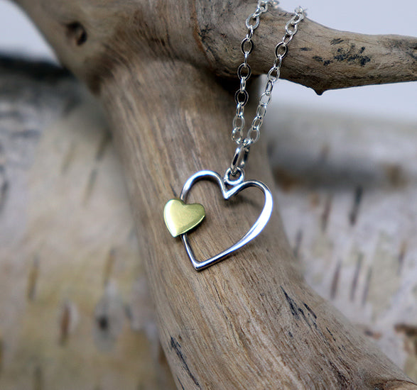 NEW! Mother and Child Heart Necklace