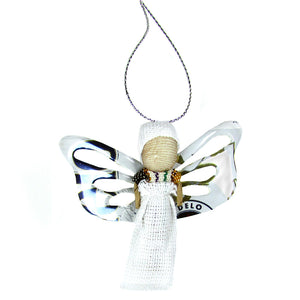 White Butterfly Angel Ornament - Many Hearts One Beat