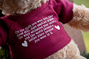 Exclusive Adoption Blessings Bear - Many Hearts One Beat